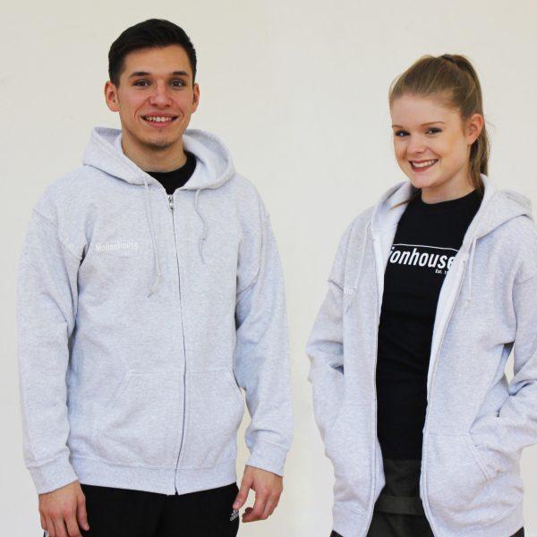 Unisex Hooded Top in Grey