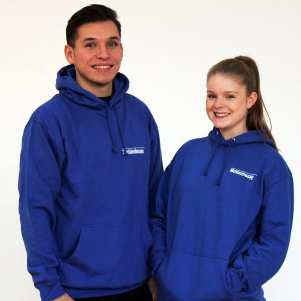 Unisex Hooded Top in Royal Blue