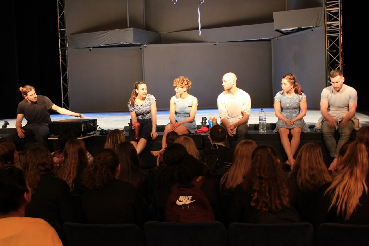 Charge cast at Post-show discussion in Nottingham
